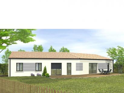Modèle de maison Avant-projet Château DOlonne 4 chambres 4 chambres  : Photo 2