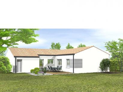 Modèle de maison Avant projet Le Givre 3 chambres + 1 bureau 3 chambres  : Photo 2