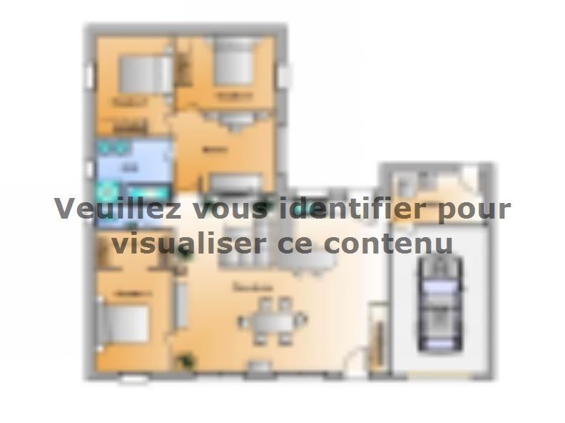 Plan de maison Avant projet Le Givre 3 chambres + 1 bureau : Vignette 1