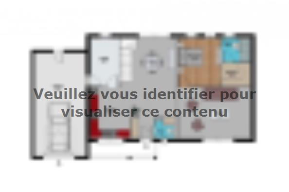 Plan de maison toit plat  : Photo 1