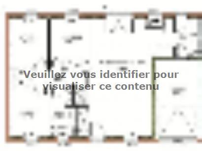 Plan de maison Avant projet Moutiers Les Mauxfaits 3 chambres  : Photo 1