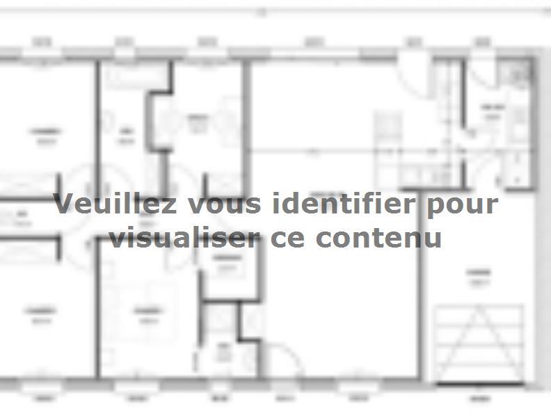 Plan de maison Avant projet St Etienne De Brillouet - 3ch+1 bur - : Vignette 1
