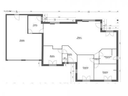 Plan de maison AVANT PROJET CHATEAU DU LOIR- 125 m² - 2 chambres 3 chambres  : Photo 1
