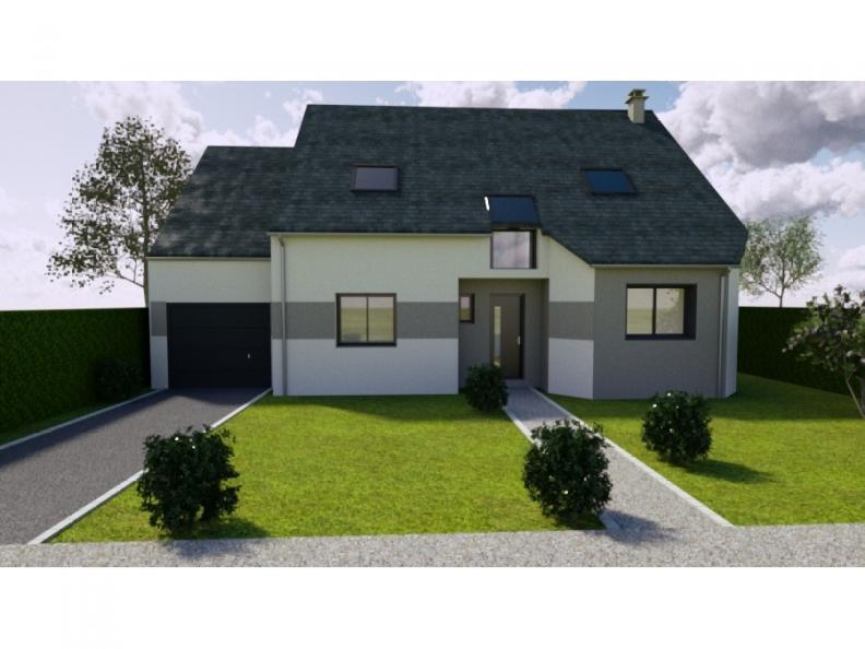 Modèle de maison AVANT PROJET L'ARCHE - 127 m² - 4 chambres : Vignette 1