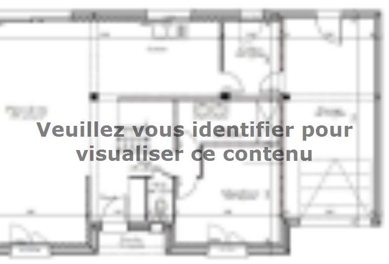 Plan de maison AVANT PROJET L'ARCHE - 127 m² - 4 chambres : Vignette 1