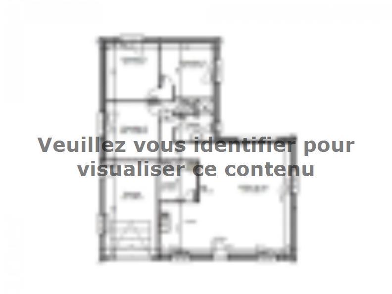 Plan de maison AVANT PROJET Moncé - 90 m² - 3 chambres : Vignette 1