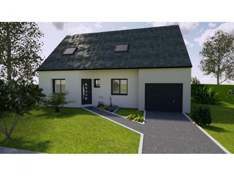 Modèle de maison AVANT PROJET YVRE - Etage 100 m² - 4ch : Vignette 1