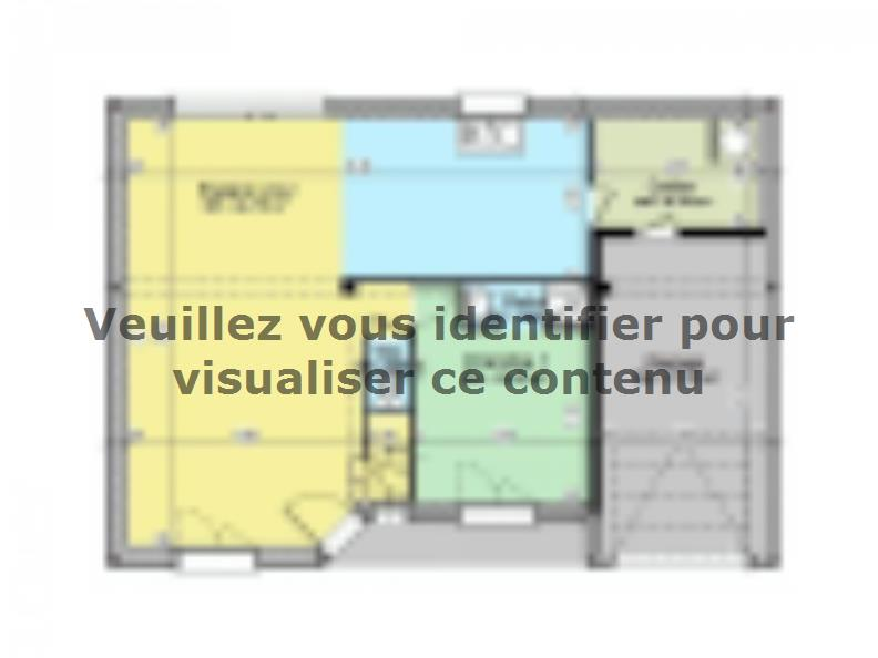 Plan de maison AVANT PROJET YVRE - Etage 100 m² - 4ch : Vignette 1