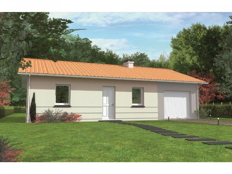 Modèle de maison Avant-projet ALLONNES - 67 m2 - 2 Chambres : Vignette 1