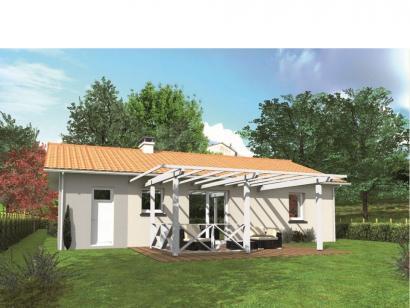 Modèle de maison Avant-projet ALLONNES - 67 m2 - 2 Chambres 2 chambres  : Photo 2