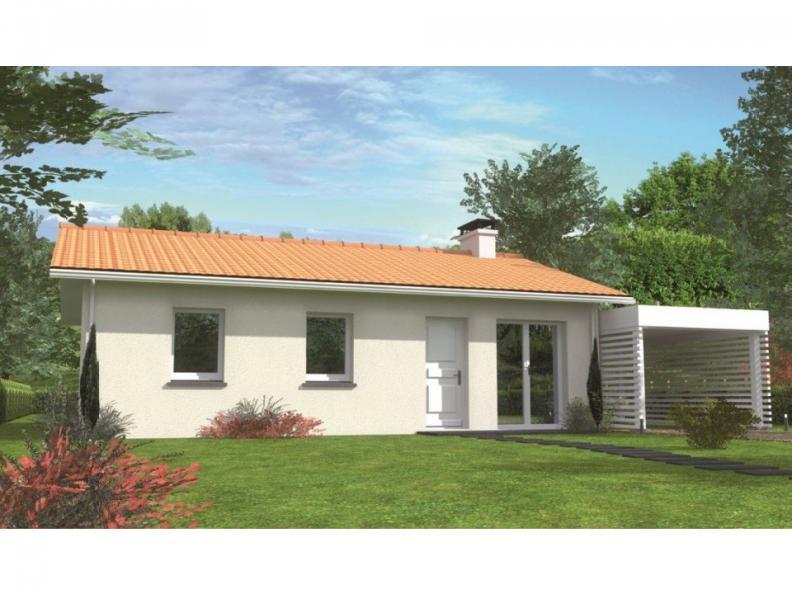 Modèle de maison Avant-projet BRETTE LES PINS - 69 m2 - 3 Chambres : Vignette 1