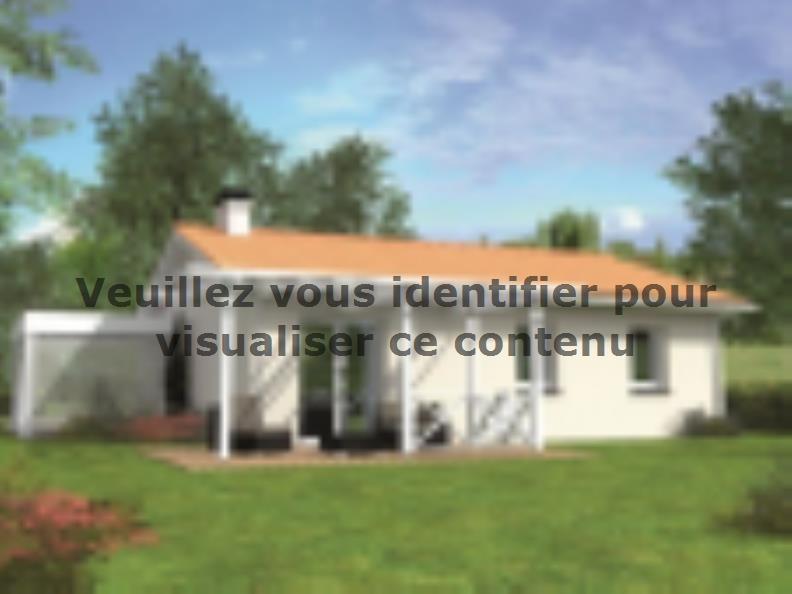 Modèle de maison Avant-projet BRETTE LES PINS - 69 m2 - 3 Chambres : Vignette 2