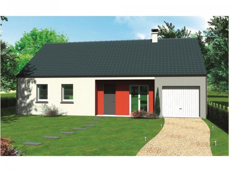 Modèle de maison Avant-projet CHAMPAGNE - 87 m2 - 4 Chambres : Vignette 1