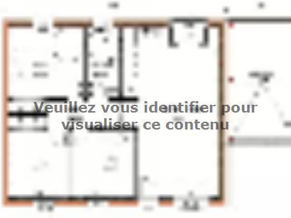 Plan de maison Avant-projet CHANGE - 69 m2 - 3 Chambres 3 chambres  : Photo 1