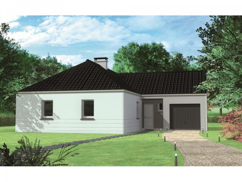 Modèle de maison Avant-projet CHEMIRE LE GAUDIN - 89 m2 - 3 Chambre : Vignette 1