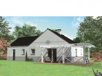 Modèle de maison Avant-projet CHEMIRE LE GAUDIN - 89 m2 - 3 Chambre 3 chambres  : Photo 2