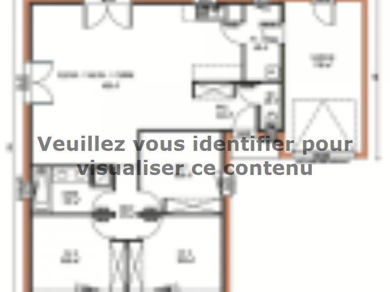 Plan de maison Avant-projet CHEMIRE LE GAUDIN - 89 m2 - 3 Chambre : Vignette 1