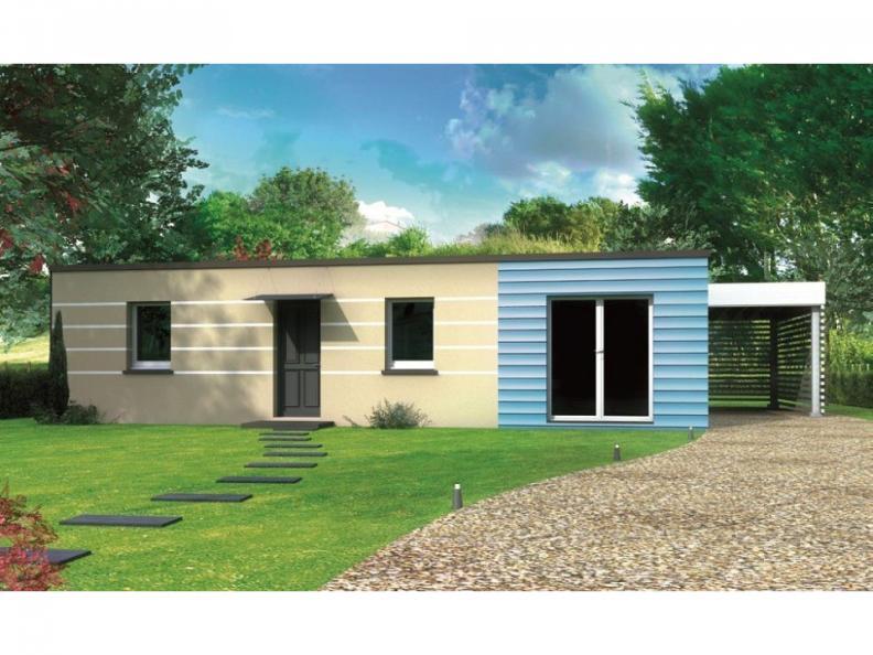 Modèle de maison Avant-projet LA BAZOGE - 84 m² - 3 Chambres : Vignette 1