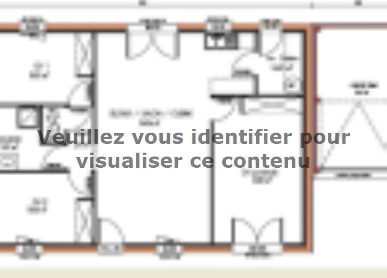 Plan de maison Avant-projet LA BAZOGE - 84 m² - 3 Chambres : Vignette 1