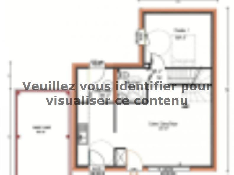 Plan de maison Avant-projet LA CHAPELLE SAINT AUBIN - 76 m2 - 3 C : Vignette 1