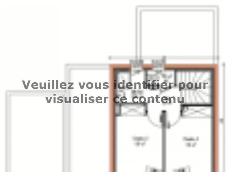Plan de maison Avant-projet LA CHAPELLE SAINT AUBIN - 76 m2 - 3 C : Vignette 2