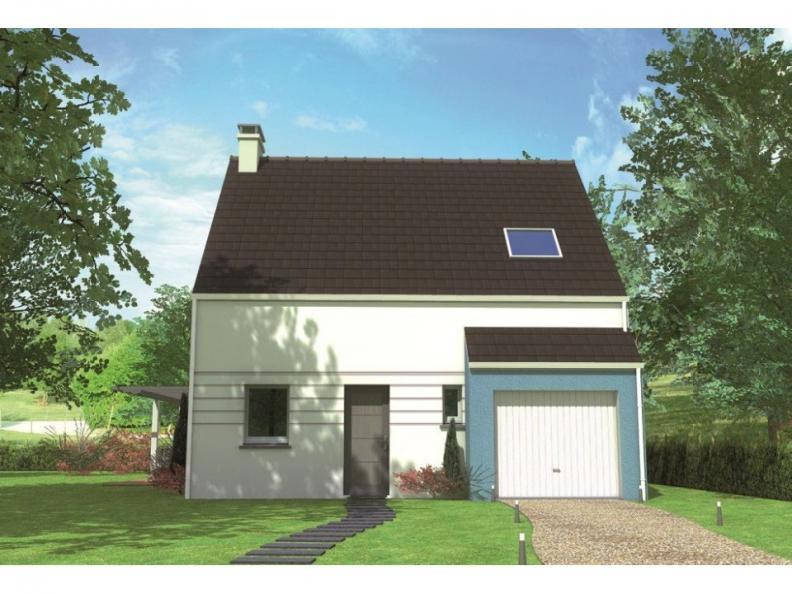 Modèle de maison Avant-projet LA FLECHE - 92 m2 - 3 Chambres : Vignette 1
