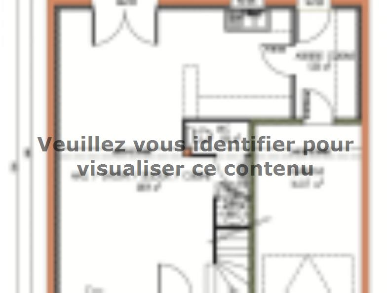 Plan de maison Avant-projet LA FLECHE - 92 m2 - 3 Chambres : Vignette 1