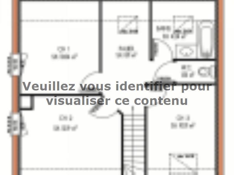 Plan de maison Avant-projet LA FLECHE - 92 m2 - 3 Chambres : Vignette 2