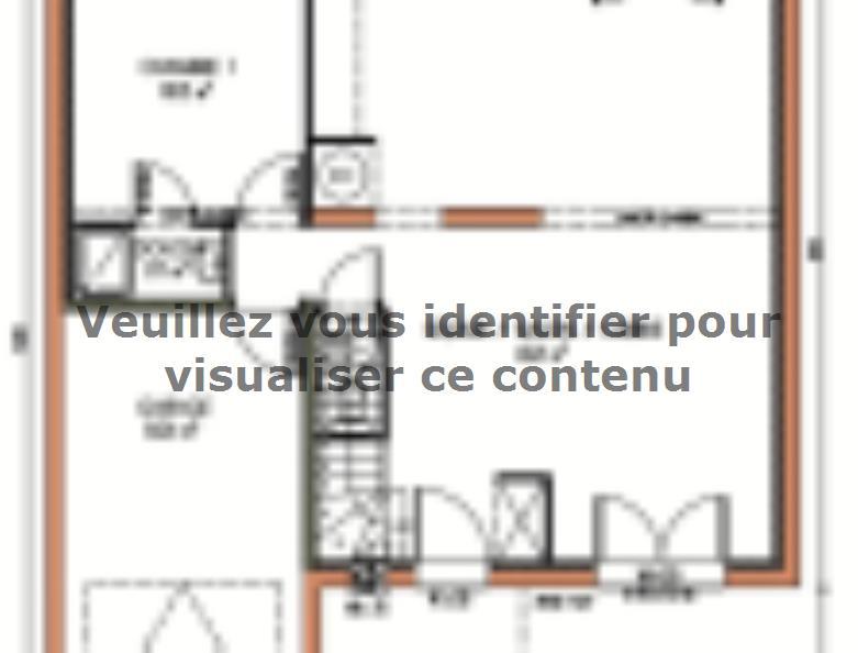 Plan de maison Avant-projet LA MILESSE - 92m2 - 4 Chambres : Vignette 1