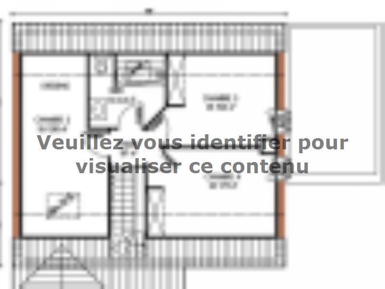 Plan de maison Avant-projet LA MILESSE - 92m2 - 4 Chambres : Vignette 2