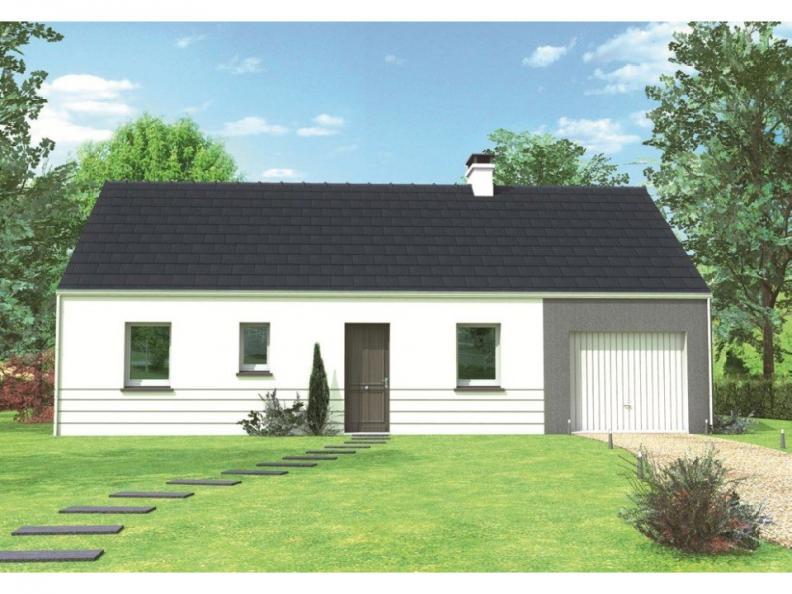 Modèle de maison Avant-projet MAYET - 76 m2 - 3 Chambres : Vignette 1