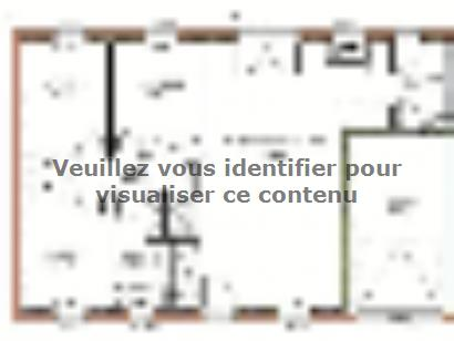 Plan de maison Avant-projet MAYET - 76 m2 - 3 Chambres 3 chambres  : Photo 1