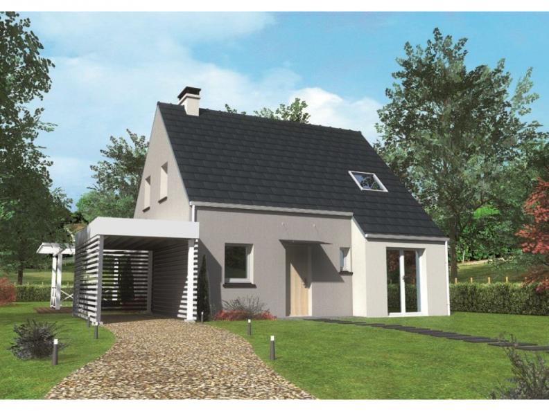 Modèle de maison Avant-projet MULSANNE - 95 m2 - 4 Chambres : Vignette 1