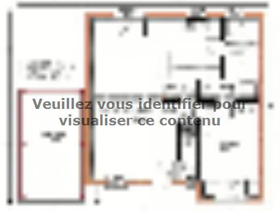 Plan de maison Avant-projet MULSANNE - 95 m2 - 4 Chambres 4 chambres  : Photo 1