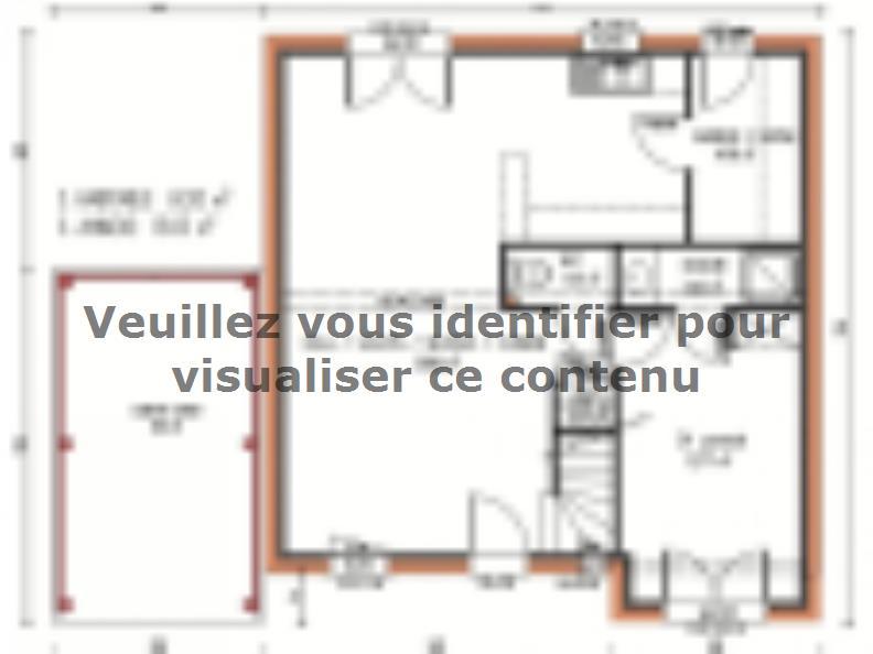 Plan de maison Avant-projet MULSANNE - 95 m2 - 4 Chambres : Vignette 1