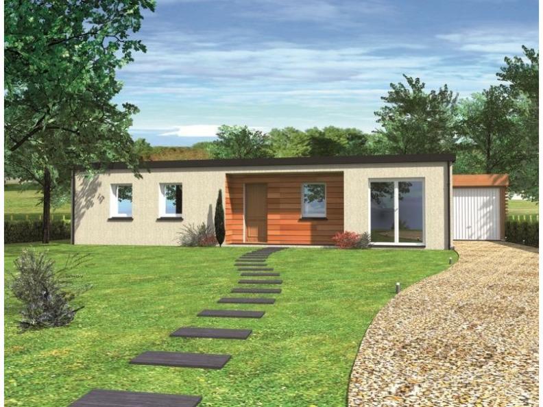 Modèle de maison Avant-projet PRUILLE LE CHETIF - 103 m2 - 5 Chambr : Vignette 1