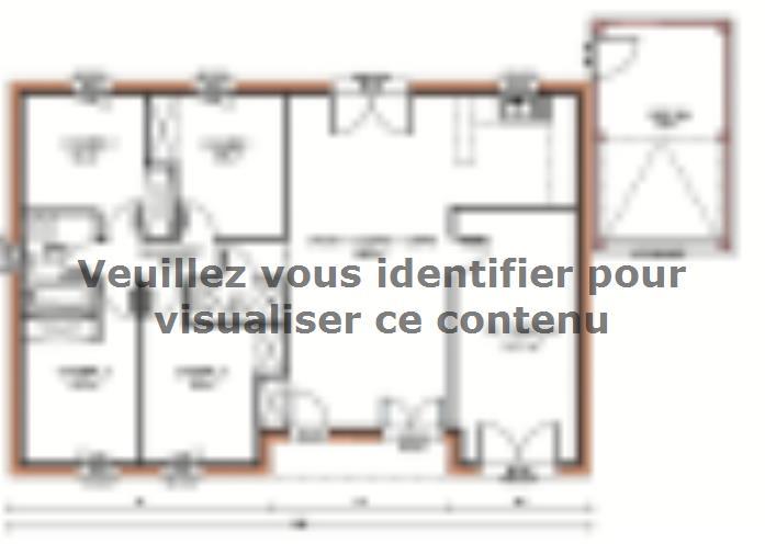Plan de maison Avant-projet PRUILLE LE CHETIF - 103 m2 - 5 Chambr : Vignette 1