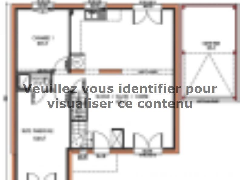 Plan de maison Avant-projet ROUILLON - 107m2 - 4 chambres : Vignette 1