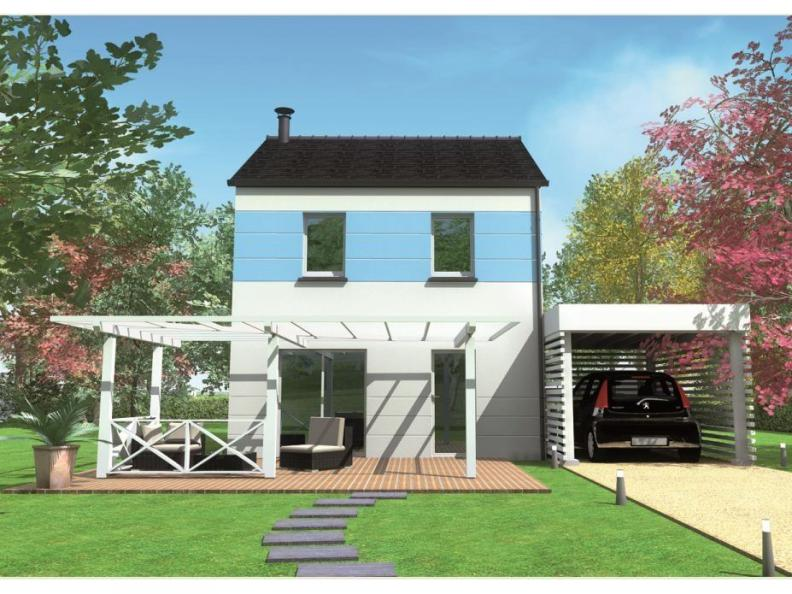 Modèle de maison Avant-projet RUAUDIN - 75 m2 - 3 Chambres : Vignette 1