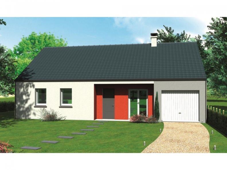 Modèle de maison Avant-projet SABLE SUR SARTHE - 87 m2 - 4 Chambres : Vignette 1