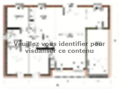 Plan de maison Avant-projet SABLE SUR SARTHE - 87 m2 - 4 Chambres 4 chambres  : Photo 1