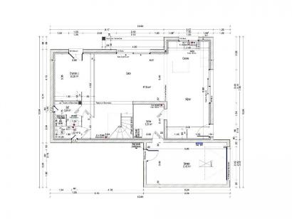 Plan de maison PERCE NEIGE C2G-110 4 chambres  : Photo 1