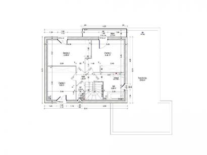 Plan de maison PERCE NEIGE C2G-110 4 chambres  : Photo 2