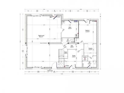 Plan de maison HELIANTHEME C2-143 5 chambres  : Photo 1
