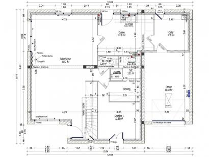 Plan de maison ACHILLEE C2G-139 4 chambres  : Photo 1