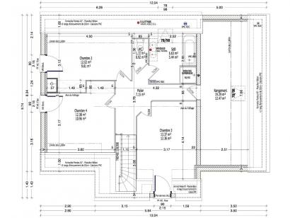 Plan de maison ACHILLEE C2G-139 4 chambres  : Photo 2