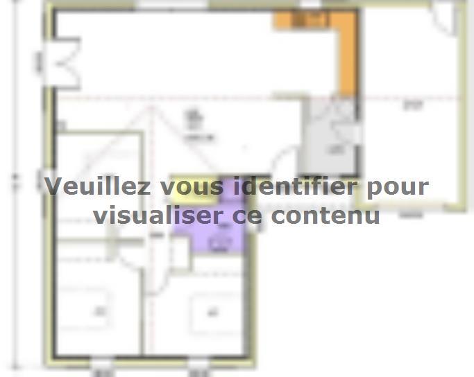 Plan de maison Avant-projet CLISSON - 90 m² - 3 chambres : Vignette 1