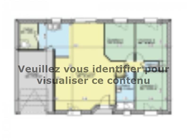 Plan de maison AVANT PROJET PARIGNE L'EVEQUE - 85 m² - 3 chambres : Vignette 1
