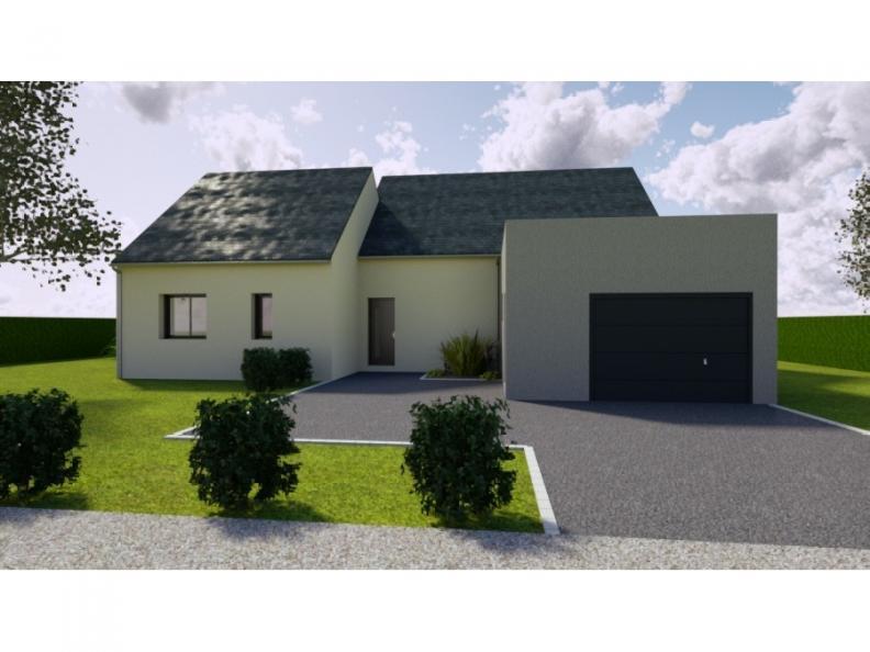 Modèle de maison AVANT PROJET SAINT PAVACE - 100 m² - 3 chambres : Vignette 1