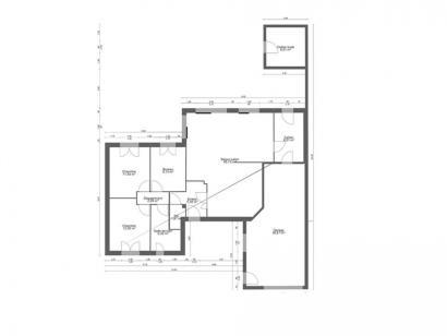 Plan de maison AVANT PROJET SAINT PAVACE - 100 m² - 3 chambres 3 chambres  : Photo 1